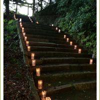 Solitary Journey [1638] 夕涼みがてら壬生万燈祭へ。ローソクの灯りが夏の終わりの夜を照らしていました。<万燈祭>広島県北広島町