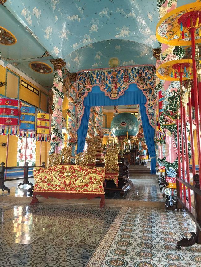 行きはミニバス、帰りは路線バスを使ってタイニンのカオダイ教寺院に行ってきました。<br />交通費は、行き60000ドン、帰り31000ドンでした。<br />(約500円)<br />スマホでGoogle MAPを使えば、ベトナム語を話すことができなくても、なんとかなりました。