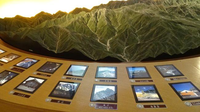 下巻は、再び室堂ターミナルに戻り、立山自然保護センターの見学後、ビル内と屋上の見学をし、立山高原バスの出発前まで時間をつぶしました。<br /><br />写真は、立山自然保護センターの展示物。
