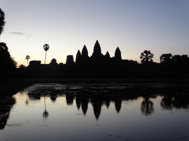 ツアーで初めてのカンボジアへ。<br />雨季と言われている9月でしたが幸い雨にあまりあたる事もなく、良い天気の中遺跡観光が出来ました。