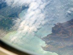 米西海岸紀行(1) 果たして飛行機からサンフランシスコのゴールデンゲートは見えるか?