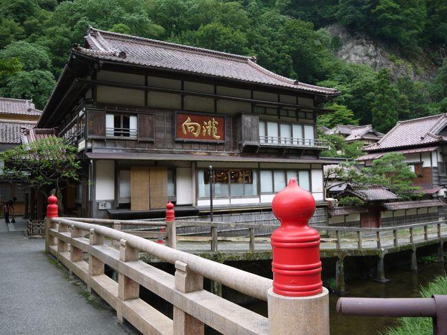 1日目、飯盛山に行った後は<br />登録文化財でもある東山温泉・向瀧さんに泊まりました。