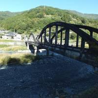 天竜川沿いダムと「月之島橋・小渋橋」を訪ねて