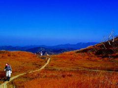 真っ白な湯治湯-紅葉真っ盛りの栗駒高原リハビリ・ウォーキング
