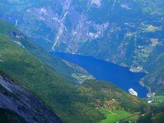2015.8ノルウエーフィヨルドドライブ1771km 15-Dalsnibba展望台,再度Geirangerを通過