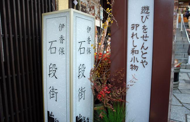 昨年の大晦日から今年元旦にかけ、1泊2日で群馬県は渋川市の伊香保温泉へ。<br /><br />正月は何もしたくないとお嫁さんが言っていたので、温泉地で年を越すのもよいかなと考え、お墓参りのついでにいつも出かけている伊香保温泉の宿を昨年の10月中旬から予約してお義母さんも連れ立って出かけてきました。<br /><br />あれやこれやと欲張って予定をたてず、石段街をぶらぶらする以外は旅館でまったりと過ごすことにしました。<br />もっとも、伊香保へは毎年のお墓参りの度に訪ねているので、旅行ガイドに載っているような見所には大体足を運んでしまっていたこともあったのですが…。<br /><br />大荒れになるであろうという天気予報にちょっとどきどきしながら、ノーマルタイヤを履いたままのマイカーで関越道をひとっ走りし、12時半頃には渋川入り。<br />JR渋川駅前の和食ファミリーレストランで年越し蕎麦をいただいて腹ごしらえし、石段街を少々ぶらり、そして15時過ぎには宿泊先の旅館にチェックイン。<br />お嫁さんとお義母さんはテレビを視ながらごろごろ、私は旅館周辺を暫く散歩して温泉街ウォッチング。<br />里山歩きだけでなく街歩きも好きだったりします。<br /><br />食べられないくらいの夕食に満足した後は、露店風呂につかったり、旅館の仲居さんが敷いてくれた布団の上でごろごろしながら、久しぶりに結構まともに紅白歌合戦を観て過ごしました。<br /><br />大晦日から元旦へと年が変わるタイミングで近隣から花火が打ちあがり、寒い寒い」といいながら、宿泊した5階の部屋の窓を開けて、年越しを盛り上げる演出に歓声を上げました。<br /><br />そしていつの間にか眠りの淵へ。<br /><br />暖房が効きすぎていて暑かったのと、寝ているのがもったいなかったので、5時半頃から布団の中でごろごろしだします。<br /><br />スマホでニュースサイトや天気予報をチェック。<br />荒れ模様ばかりの天候を伝える天気予報に不安になり、東の空が明るくなり始めた窓外の景色を確認しますが、どうやら雪はなく、胸を撫で下ろします。<br />とはいえ、帰路の途中で降雪に遭遇し、事故が起きるようなことがあってはいけないので、私とお嫁さんは訪ねたことがあるがりますが、お義母さんはまだない、世界遺産の富岡製紙場への寄り道を諦めることにし、お義父さんのお墓参りを済ませた後はそのまま家路へと向かうことにします。<br /><br />楽しみにしていた朝風呂に入り、そして朝食をいただきます。<br />正月の食事らしく雑煮が出されたが、具に入っていた鯛の切り身からだしがよく出ていて美味しかったですね。<br /><br />チェックアウトぎりぎりの時間まで部屋で寛ぎ、お義父さんの眠る墓苑へ。<br /><br />その後イオンモール高崎、前橋市内の喫茶店、スマーク伊勢崎で小休止しながら、あとは雪を心配しつつのんびりと帰宅しました。<br /><br />幸いなことに結局雪には降られませんでしたね。
