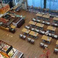 NEWレオマワールド1泊2日の旅(11) ホテル レオマの森 その3 夕食とベランダからの夜景。
