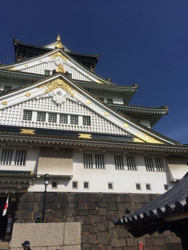約30年ぶりに訪れた大阪城<br />平成の大改修を経て、金ピカになっていました<br />あまりの変貌ぶりに驚きました<br /><br />変貌した大阪城とお洒落に変貌途中の空堀商店街へ行ってきました<br />