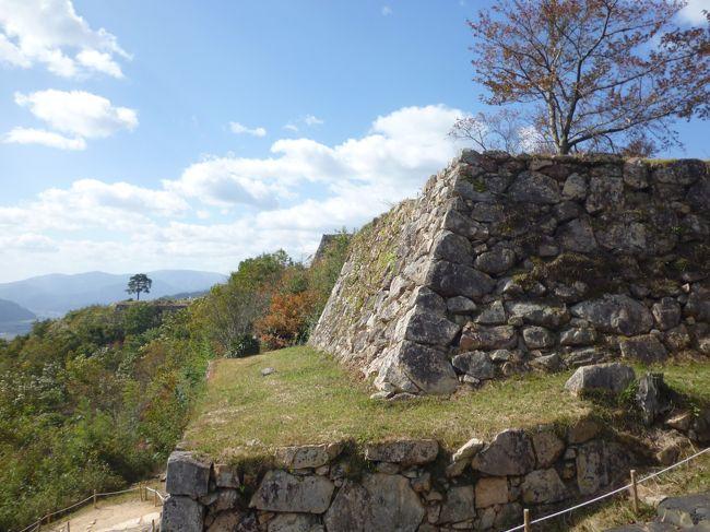「天空の城」竹田城に、バスではなく、登山(30分ですが)で挑戦しました。結構な坂道でした。