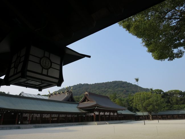 2015年はあちらこちらの神社、お寺で大きな行事が行われたる「当たり年」らしい。<br /><br />善光寺は6年に1度の御開帳。<br />高野山は開創1200年。<br /><br />日光東照宮は400年式年大祭。<br />ポスターが駅に貼られたっけ。<br /><br />下鴨神社は式年遷宮の費用を集めるため、マンションを建てる!とニュースになってたな〜。<br /><br />そしてこういう大きな行事があると特別公開が行われるのよね。<br />その特別公開にめっぽう弱いんだ…私。<br />ミーハーなのはわかってるが!<br /><br />とはいえ時間とお金には限りがあるので善光寺と高野山のみのつもりだったのに……。<br />60回の節目である春日大社と神武天皇2600年大祭が行われる橿原神宮がとても気になる。<br />ついでにちょっと足をのばせば、お色直しが終わった姫路城にも行けるよね。なんでも真っ白なのは2、3年らしいし……。<br /><br />えーい!思いきって行ってしまえ!!<br />少しでも節約するのと人混みを避けるため紅葉よりちょっと早い奈良と姫路を楽しんできました。<br /><br />唯一の誤算は終始、胃の不調に悩まされたことです……。<br /><br />まずは特別公開中の橿原神宮と地上に降りてきた水煙を見るために薬師寺へ。