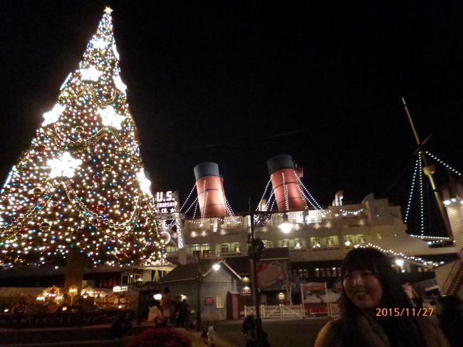 JAL主催の東京ディズニーシーでのプライベートイブニングパーティーへの招待状が届き娘と二人で行って来ました。<br />短い時間でしたがちょっと早いですがクリスマスイルミネーションの楽しい一時を過ごしました。<br />【エンターティメントスケジュール】<br />19:30〜19:50 ウェルカムグリーティング<br />20:00〜20:25 ファンタズミック!<br />20:30〜   花火の打ち上げ<br /> ※20:40〜   ミュージカルショー キングトリトンのコンサート 一回目<br />20:50〜21:20 ビッグバンドビート〜クリスマス・スペシャル〜<br /> ※21:10〜   ミュージカルショー キングトリトンのコンサート 二回目<br />21:00〜21:55 マイ・フレンド・ダッフィー<br /> ※21:40〜   ミュージカルショー キングトリトンのコンサート 三回目<br />22:00〜22:20 フェアウェルグリーティング<br />写真が中心となりますがご覧ください。<br />スマートフォンとデジタルカメラで撮ったため<br />二部構成となります<br />前後しますがお許しください。
