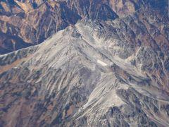 【国内203】本当のとんぼ返り小松 アルプスの山々 槍ヶ岳 穂高岳の飛行機からの眺め