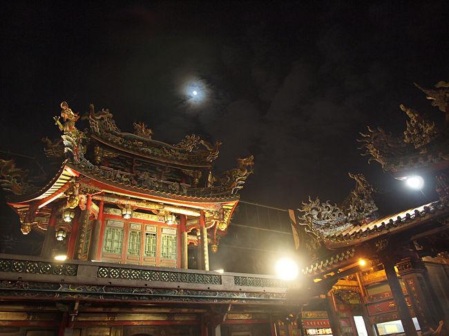 台北の旅03 夜の龍山寺