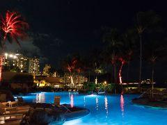 感謝祭シーズンのハワイ 雨のカイルアビーチ ワイキキの感謝祭の夜は更けて