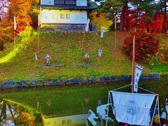 弘前-6 弘前城植物園 菊まつりの夕 ☆菊の岩木山・菊人形展示など