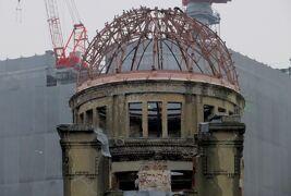 2015秋、厳島神社、原爆ドームと出雲大社周遊:11月17日(8):原爆ドーム(1/3):相生橋、平和記念公園、平和の鐘、原爆の子の像