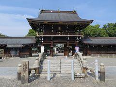 2015秋、尾張一之宮・真清田神社(1):10月9日(1):西門の鳥居、社務所、楼門、神橋