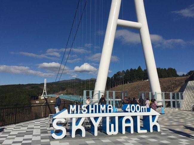 12月18日、この日は広域で快晴の富士山が見える!との情報を得て、満を持して三島スカイウォークに行ってきました。<br />テレビ取材班も来ていました。