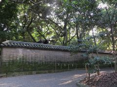 2015秋、熱田神宮(5):9月30日(5):神宮歴史解説パネル、信長塀、本殿へ