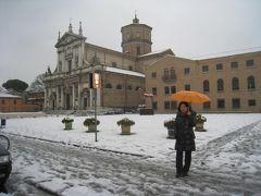 雪のイタリア横断ドライブ