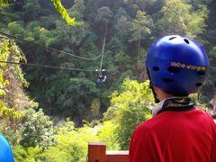 ③ Maetamanメータマンエレファントキャンプで象・牛車乗り・いかだで川くだり・ジップライン Zipline Chiangmai (12/20午前~午後)