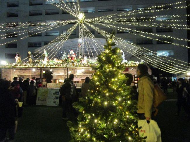 通例警固公園で行われていたクリスマスマーケットが、2015年は市長舎広場にところを変えて開催されました。<br />去年よりパワーアップ?<br />