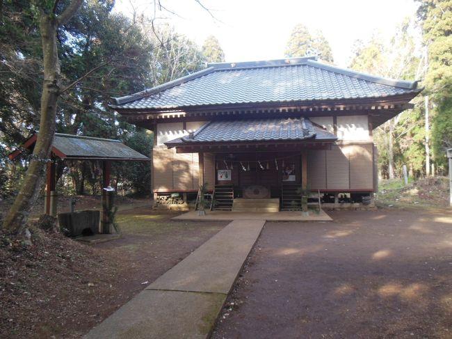 平成28年1月3日、穏やかな暖かな陽ざしに誘われて、本年最初の散歩に出かけた。目指すは越智天満神社と大木戸八幡神社。写真はまず最初に訪れた越智天満神社である。