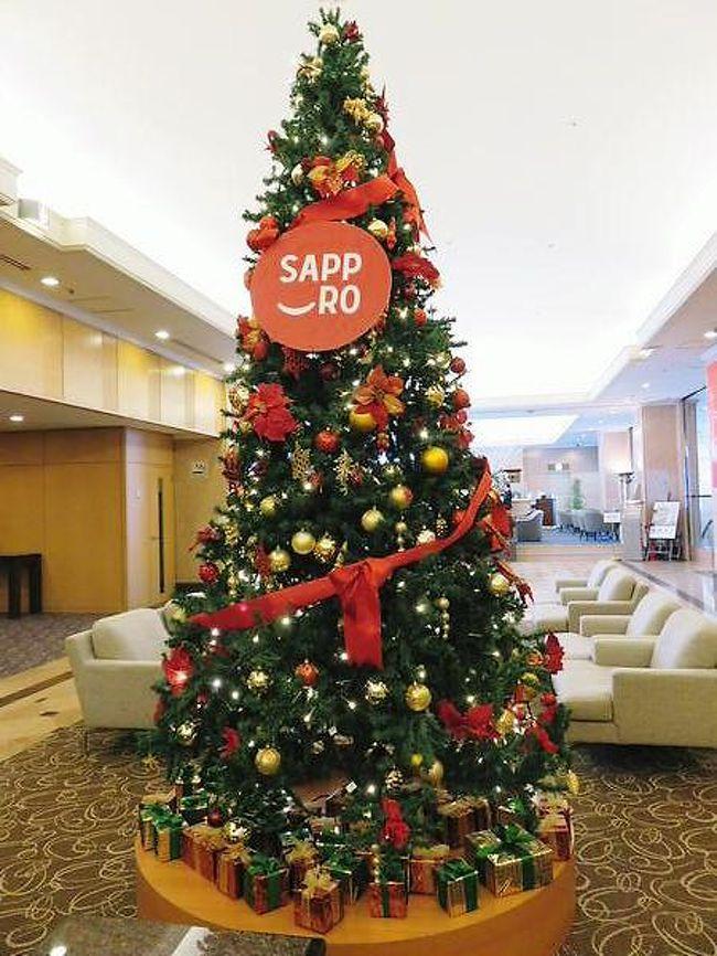 年末も押し迫るクリスマスシーズン北海道へ一人旅。<br />旦那は仕事、子供は実家へ預け(ごめんね(^ ^;)、<br />なぜわざわざ真冬の札幌へ行って来たか。<br />それは旅行記にて。<br /><br />出発が近付くにつれクリスマスあたり北海道及び日本海側は雪、<br />特に復路を予定している12/27は大荒れだとか大雪だとか、<br />出発前飛行機飛ぶ・飛ばない、ディレイ・欠航したらどうしよう、<br />止めとけばよかった~と散々悩みましたが何とか無事に行って来られました。<br /><br /><br />