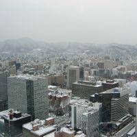 雪降る中、グルメと観光を満喫