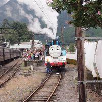 大井川鉄道トーマスと、寸又峡夢のつり橋と、奥大井湖上駅