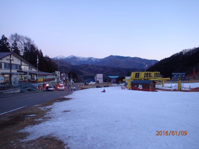 かたしな高原スキー場2016<雪がない!SL新春レトロみなかみ号で行く>