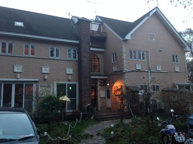 まき夫と一緒に北軽井沢のバリ風ホテル「エスティバンクラブ」に1泊しました。<br />お部屋、料理ともバリ風で、貸切風呂もあり、のんびりくつろぎました^^♪