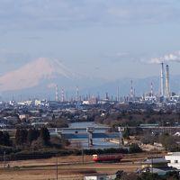 小湊鉄道と富士山