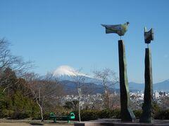 冬の積雪の白い富士山の眺望を見るため、「清水 船越堤公園」を散策する!