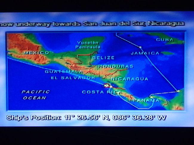 2015年12月27日、クルーズ8日目です。<br />3日間の終日航海を終え、今日は久しぶりの上陸観光です。<br />ニカラグアは火山と湖の国だそうです。ワクワク!<br />アイランド・プリンセスは一路サンファン・デル・スールを目指し、朝にはアンカリングをする予定。