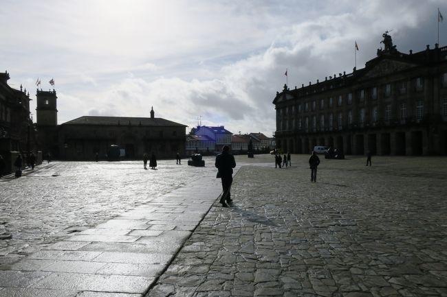毎年恒例の生年は違うけど同じ誕生日を祝う女子旅。<br />今年は「宮殿ホテルブサコパレスに泊まる夢のポルトガル8日間」に参加しました。<br /><br />今回はツアー3日目 サンディアゴ・デ・コンボステーラです。<br /><br />ツアー(1月16日~6泊8日)の概要は<br />1日目 羽田→フランクフルト→リスボン(泊)<br />2日目 リスボン→トマール→ファティマ→ポルト(泊)<br />3日目 ポルト→サンディアゴ・デ・コンボステーラ→ポルト(泊)<br />4日目 ポルト→コインブラ→ブサコ(泊)<br />5日目 ブサコ→ナザレ→オビドス→ロカ岬→リスボン(泊)<br />6日目 リスボン市内観光(泊)<br />7日目 リスボン→フランクフルト→羽田(機中泊)<br />8日目 羽田解散
