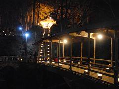 湯の丸スキー場でスキー&鹿教湯温泉の氷灯ろう夢祈願へ。