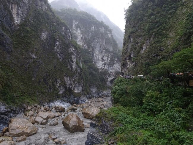 ANAツアーで行く1月の台湾。(2日目:太魯閣号で行く雨の花蓮・太魯閣峡谷)