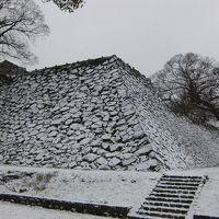 雪の福岡城跡を気ままにぶらり旅