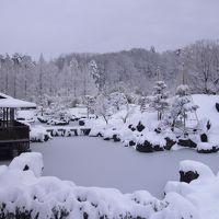 ◆福島空港公園 日本庭園雪景色