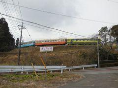 懐かしい鉄道車両が立ち並ぶいすみポッポの丘に行く。