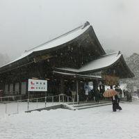 大雪の2015年の元日 出雲大社で初詣