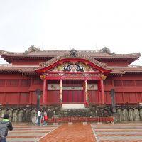 雨の沖縄・首里城