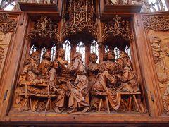 《2015年~2016年 年末年始 冬枯れのドイツ11》 ローテンブルク 聖ヤコブ教会 なんと気高く上品な・・・リーメンシュナイダーの傑作を鑑賞