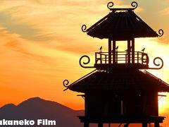 唐古・鍵遺跡 古代奈良の光景が浮かび上がった。夕陽と二上山撮影 緊急モードでの投稿