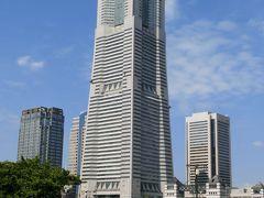 横浜ランドマークタワーと展望台からのみなとみらい。