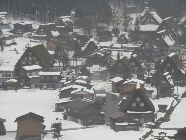去年(平成27年)12月に新車を購入。<br />タイヤもスタッドレスにしたので、雪の温泉へ行こうということになり、岐阜県から長野県を旅してきました。<br />ところが、雪を期待したのに今年は暖冬で雪がとっても少ない。残念!<br />でも、雨の飛騨高山や白川郷も雰囲気があってなかなか良かったですよ。<br /><br /><br />行程<br /> 飛騨高山〜白川郷〜奥飛騨(福地温泉)〜白骨温泉〜松本<br /><br />宿泊先<br /> 高山グリーンホテル(飛騨高山)<br /> 隠庵 ひだ路(福地温泉)<br /> 泡の湯(白骨温泉)