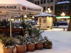 《2015年~2016年 年末年始 冬枯れのドイツ15》 再びの ニュルンベルク は 雪景色