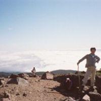 内田 登山 くんと 安達太良山  天空の頂上   2009