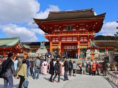 京都伏見稲荷から東山花灯路を満喫して1万5千歩の日帰り旅行。・・・・もう、クタクタ。。。